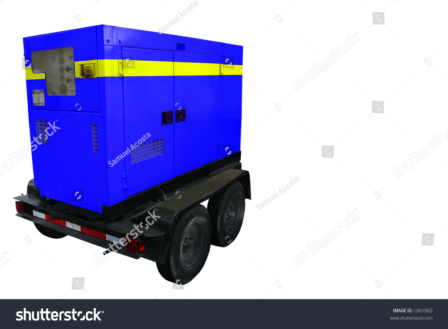 Portable Generator Trailer All Names Removed Stock Photo