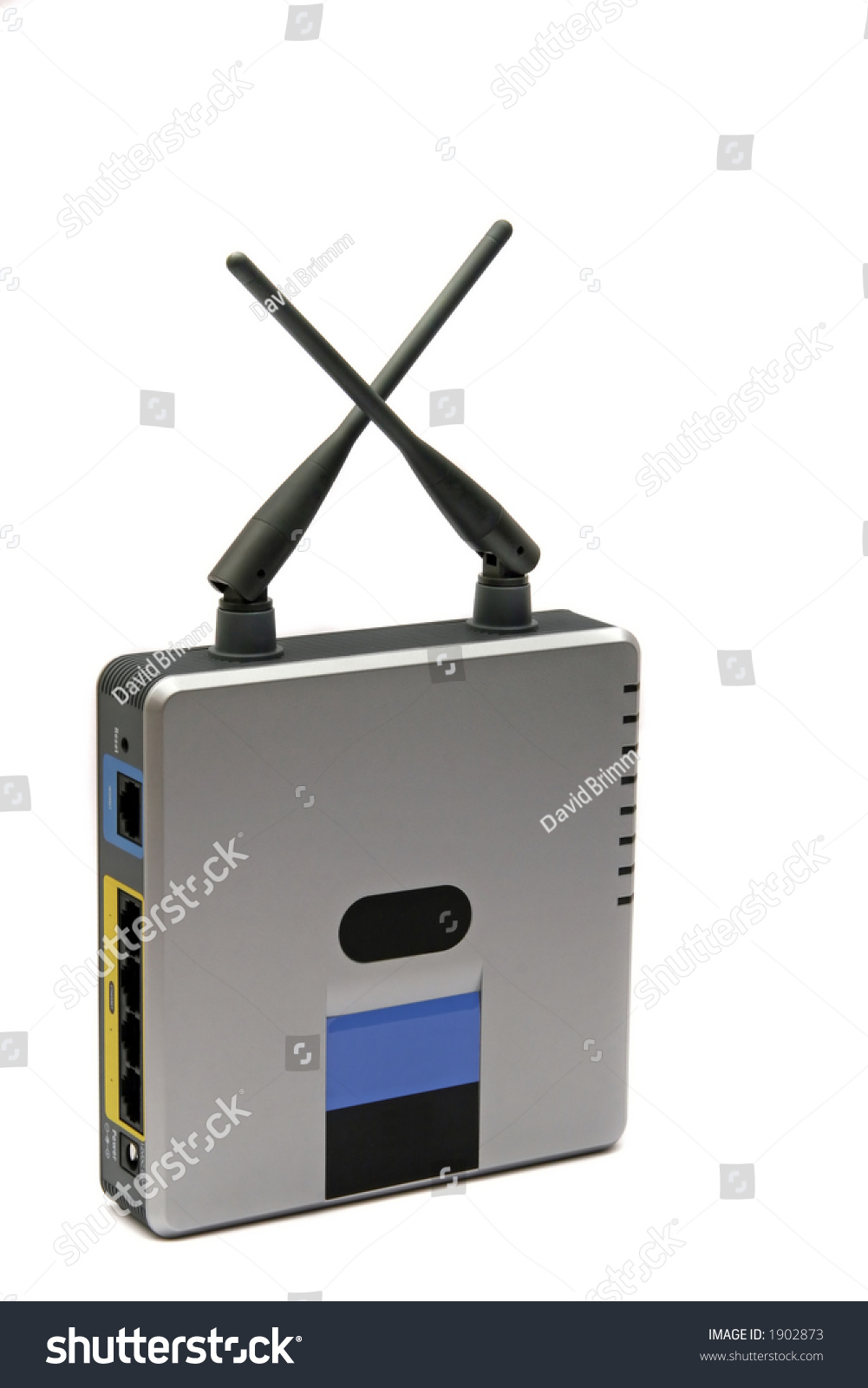 Wireless Router Integrates Wireless Access Point Stock Photo (Edit ...