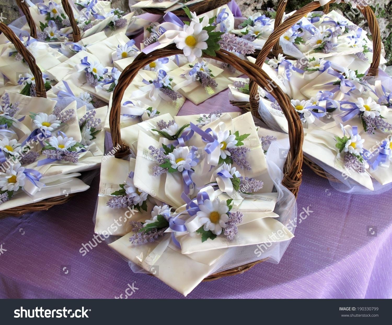 decorative baskets with wedding favors - Decorative Baskets