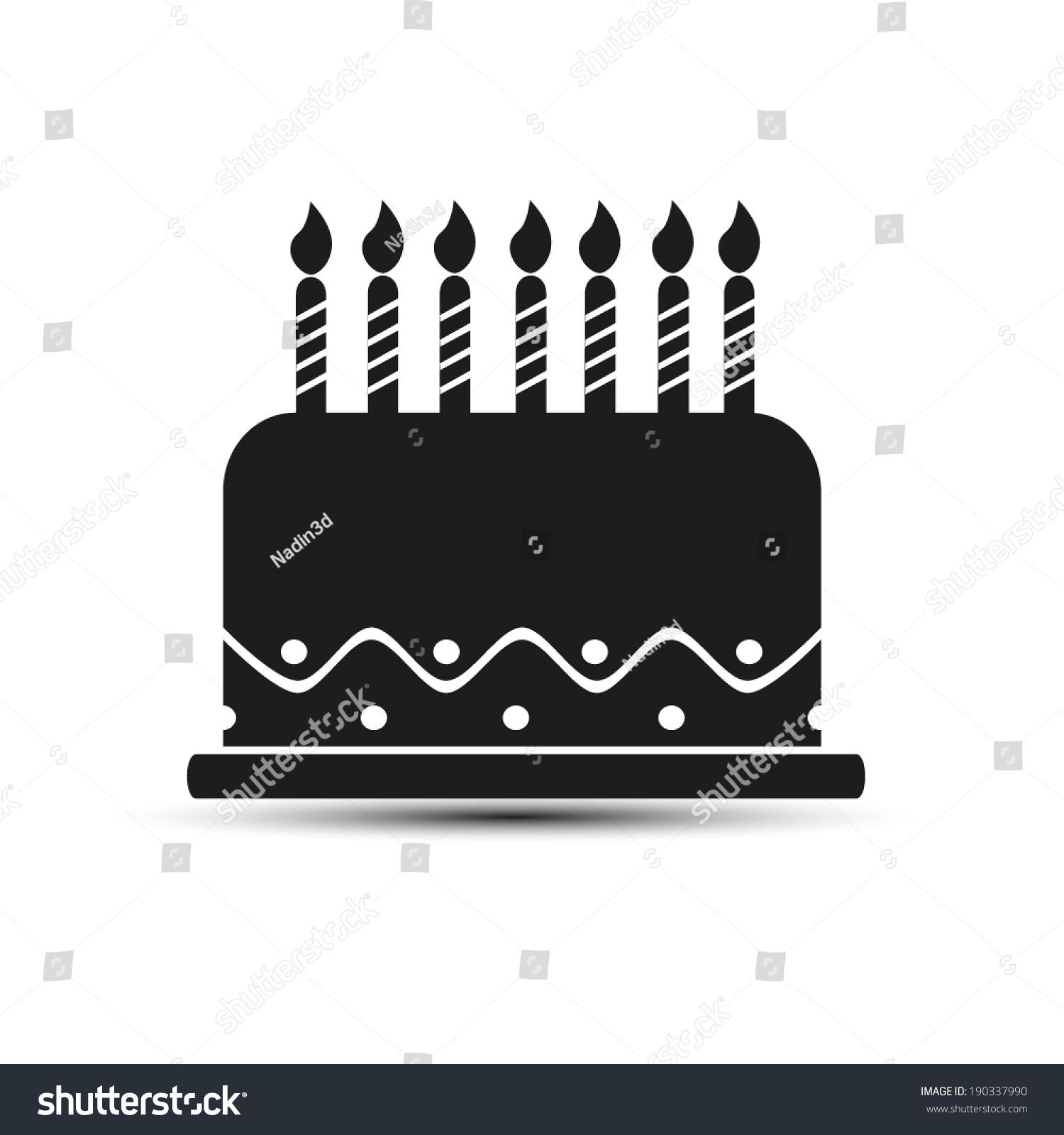 Birthday cake icon vector illustration flat stock vector 190337990 birthday cake icon vector illustration flat design style buycottarizona