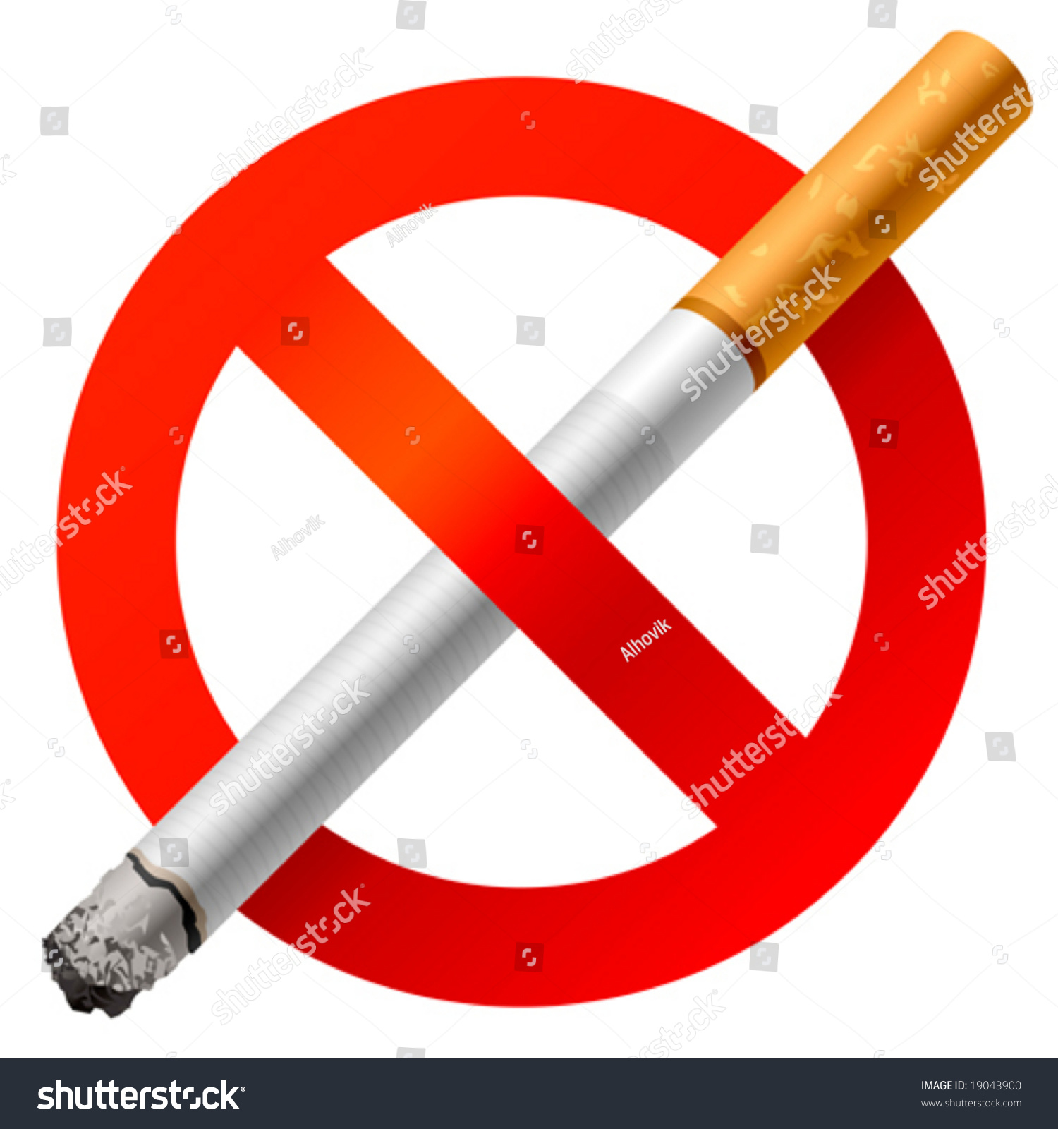No Smoking Sign Vector Stock Vector 19043900 - Shutterstock