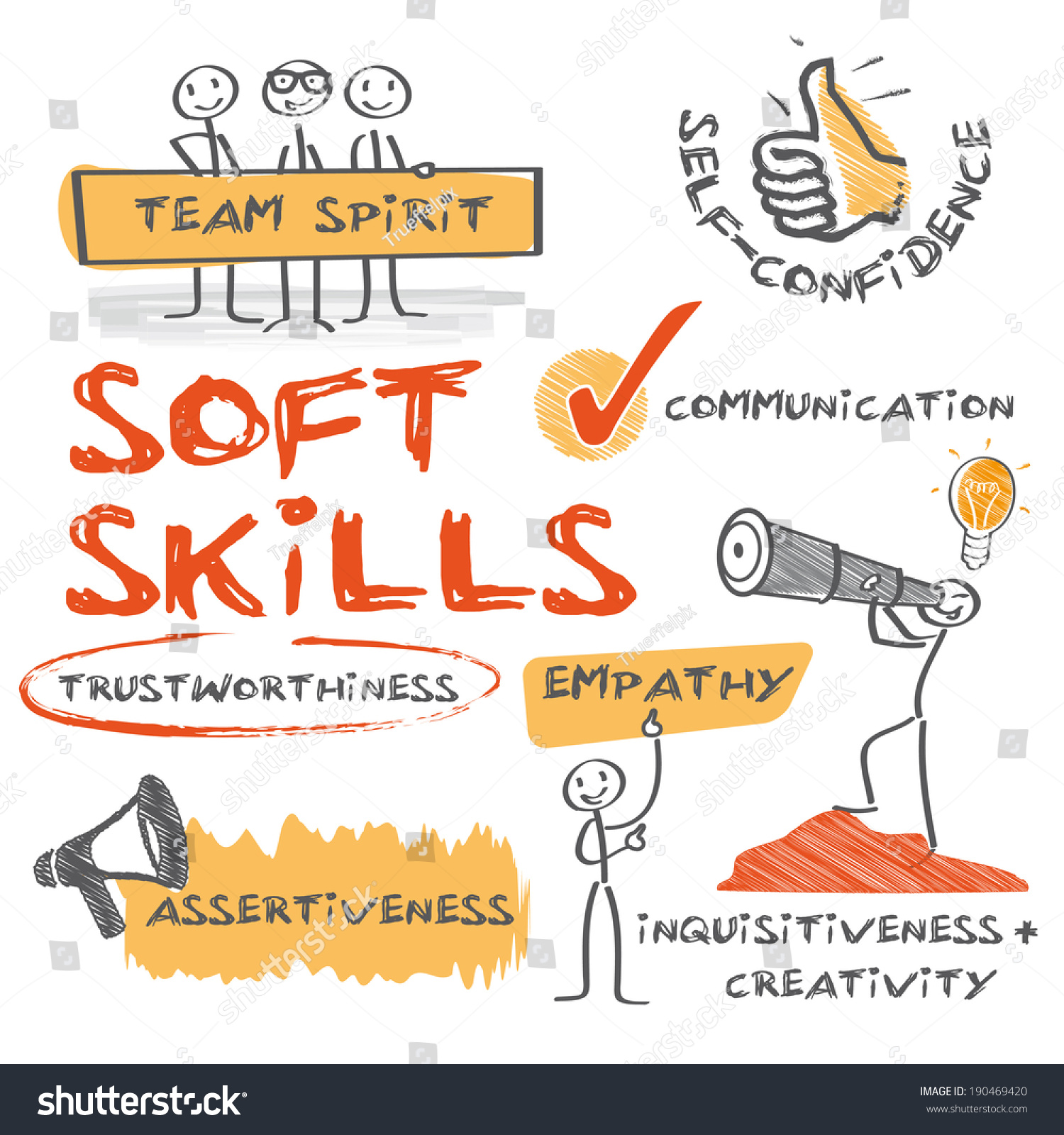 soft skills complement hard skills which stock vector 190469420 soft skills complement hard skills which are the occupational requirements of a job and many other