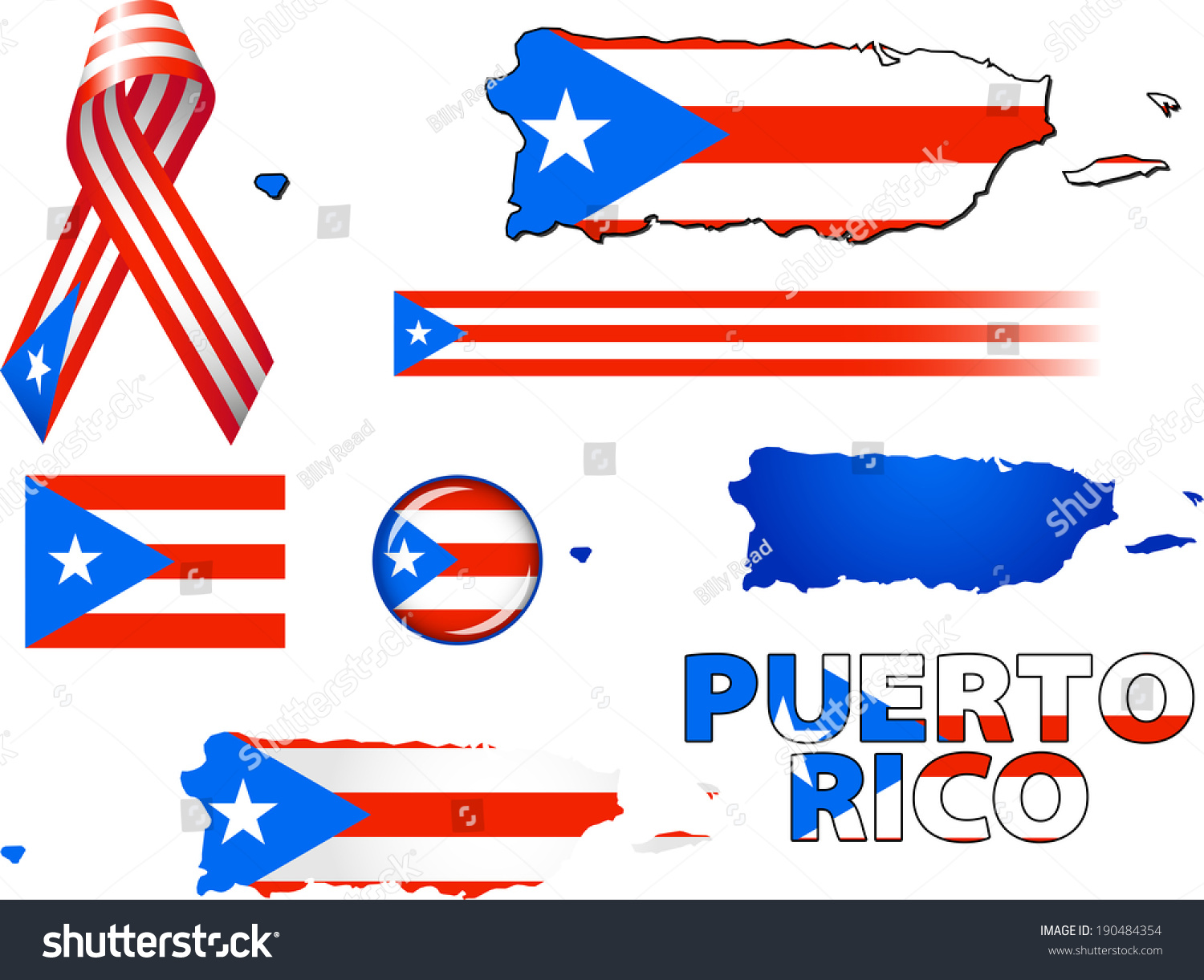 Puerto rico icons set vector graphic stock vector 190484354 puerto rico icons set of vector graphic icons and symbols representing puerto rico biocorpaavc Image collections