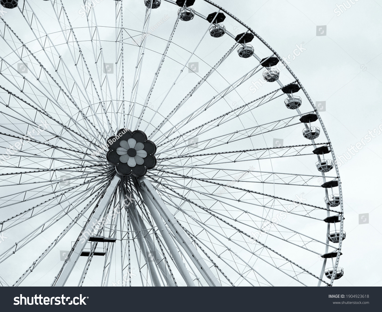 Vienna,Austria,May 2014, a ferris wheel in the prater park