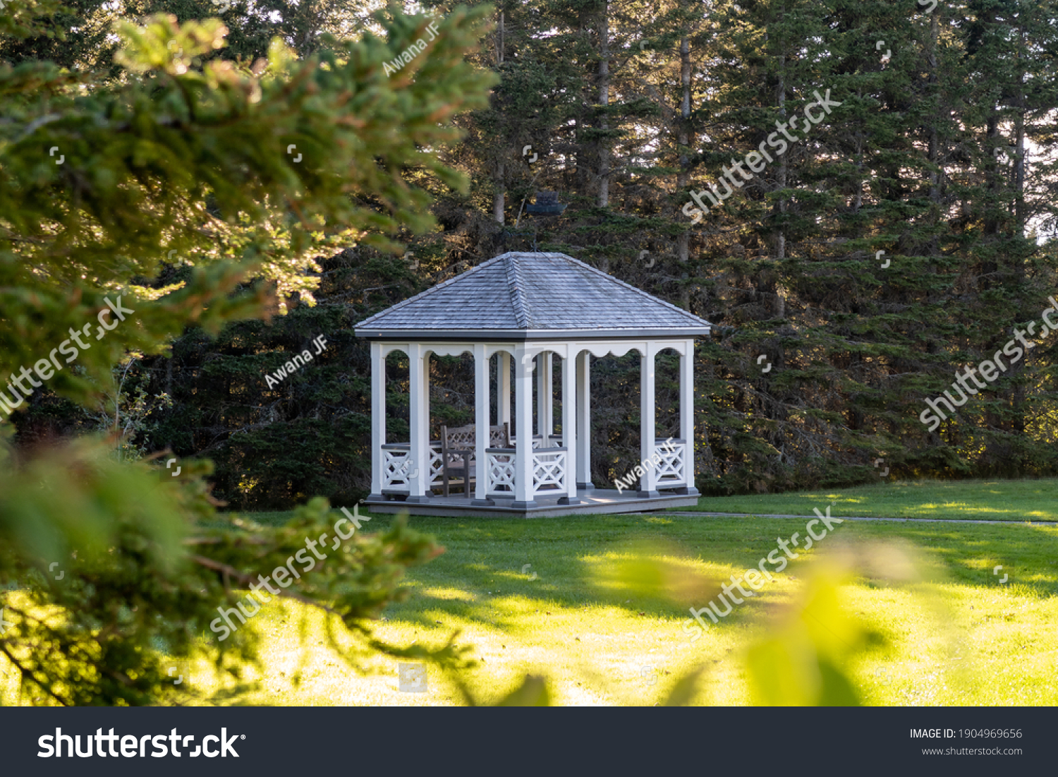 stock-photo-view-of-a-garden-kiosk-in-th
