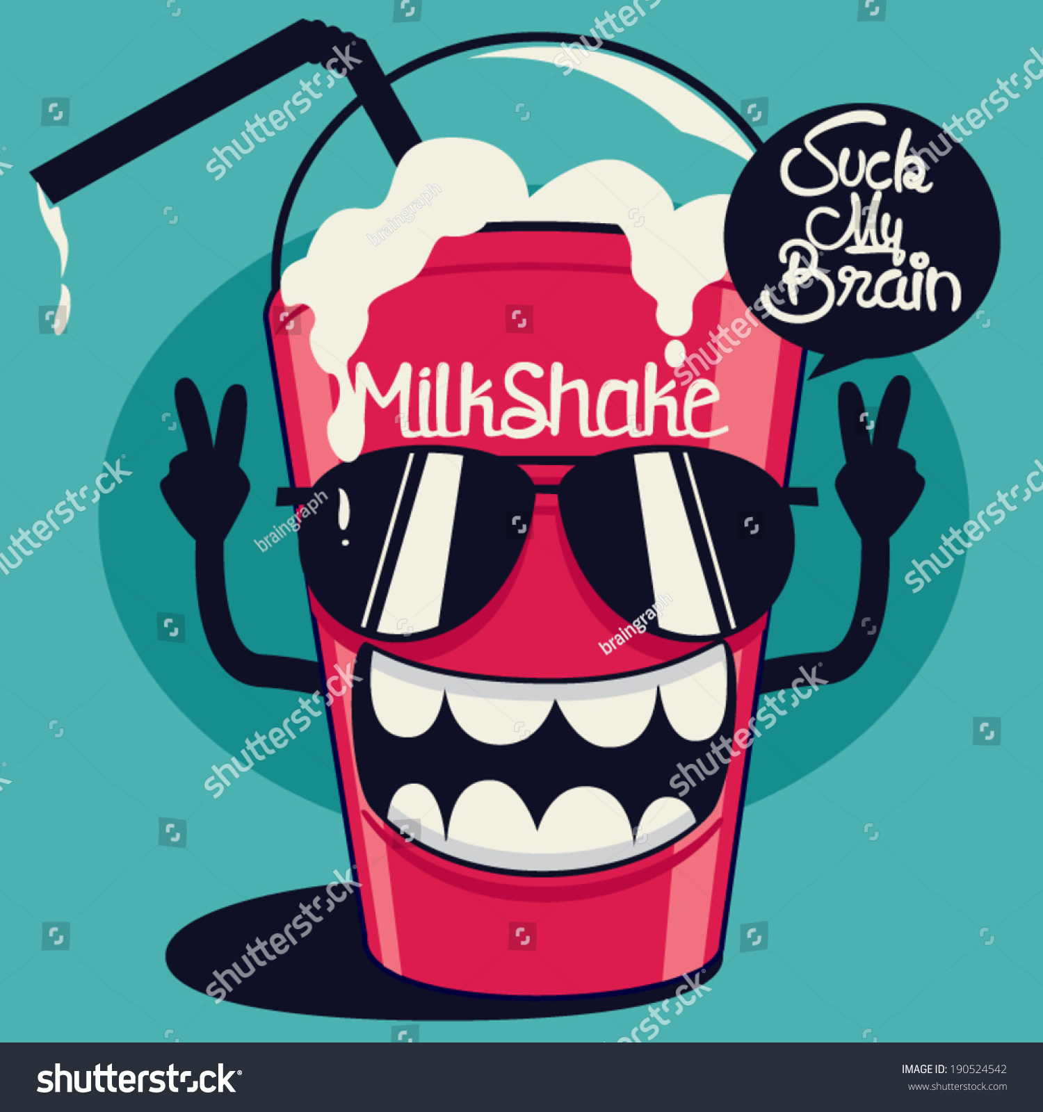 cool milkshake stock vector 190524542 shutterstock. Black Bedroom Furniture Sets. Home Design Ideas