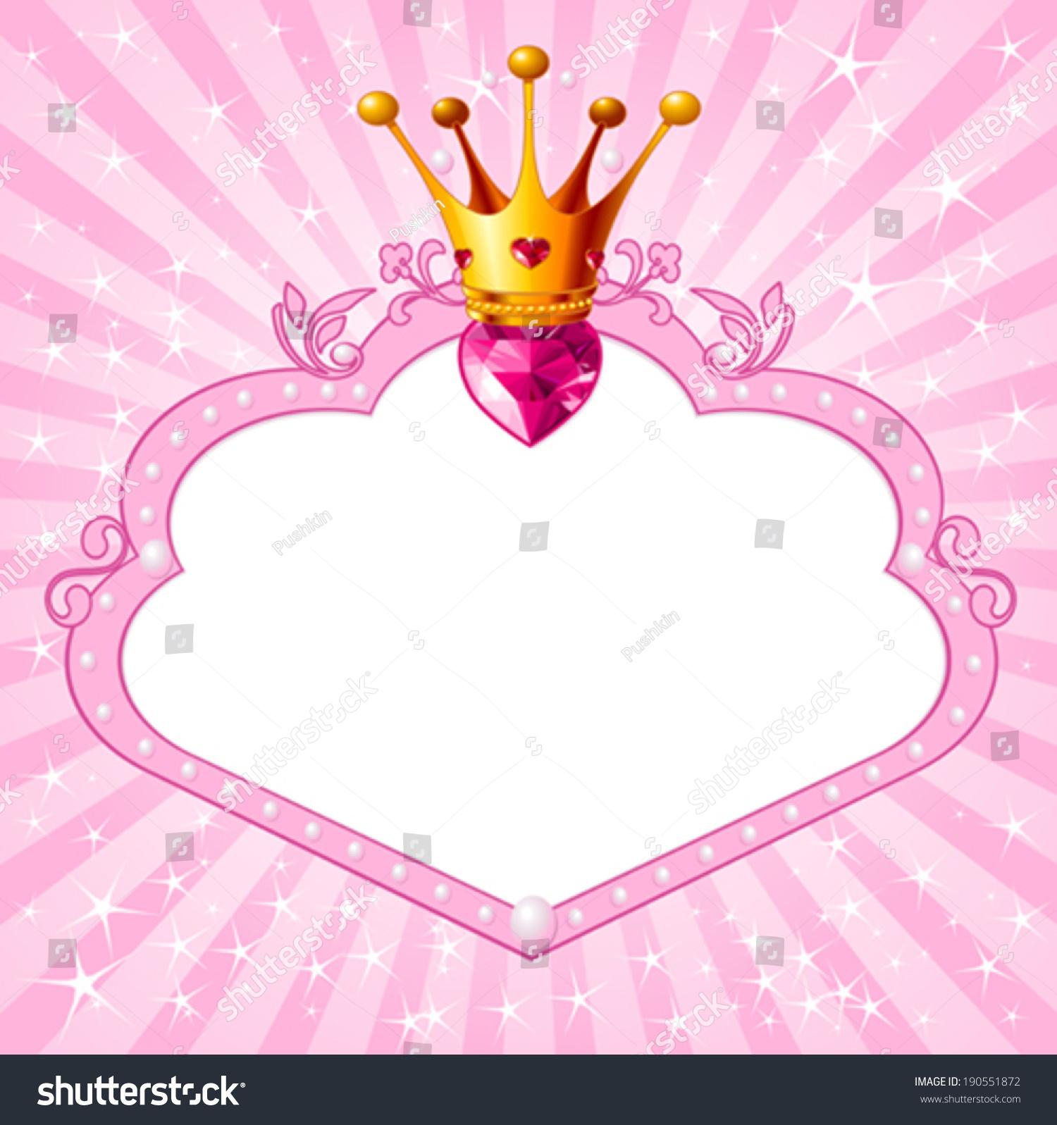 可爱的女孩公主框架。完美的漂亮的背景-星座女生粉色最好哪个图片