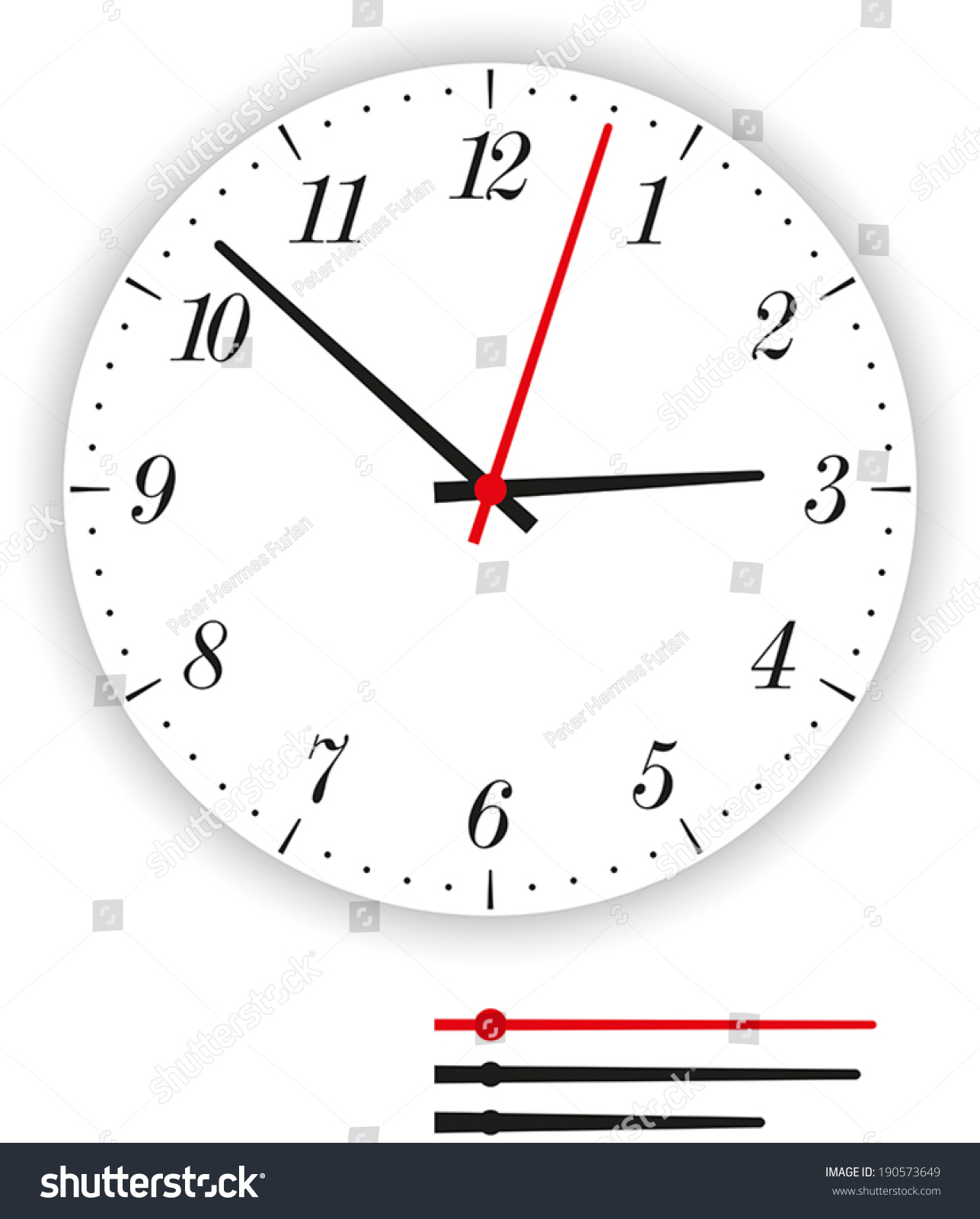 worksheet Analog Clock Face clock face modern illustration stock vector 190573649 of a dial as part of