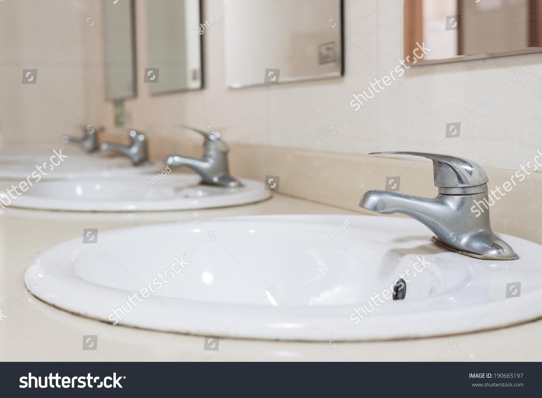Faucet,in toilet.   EZ Canvas