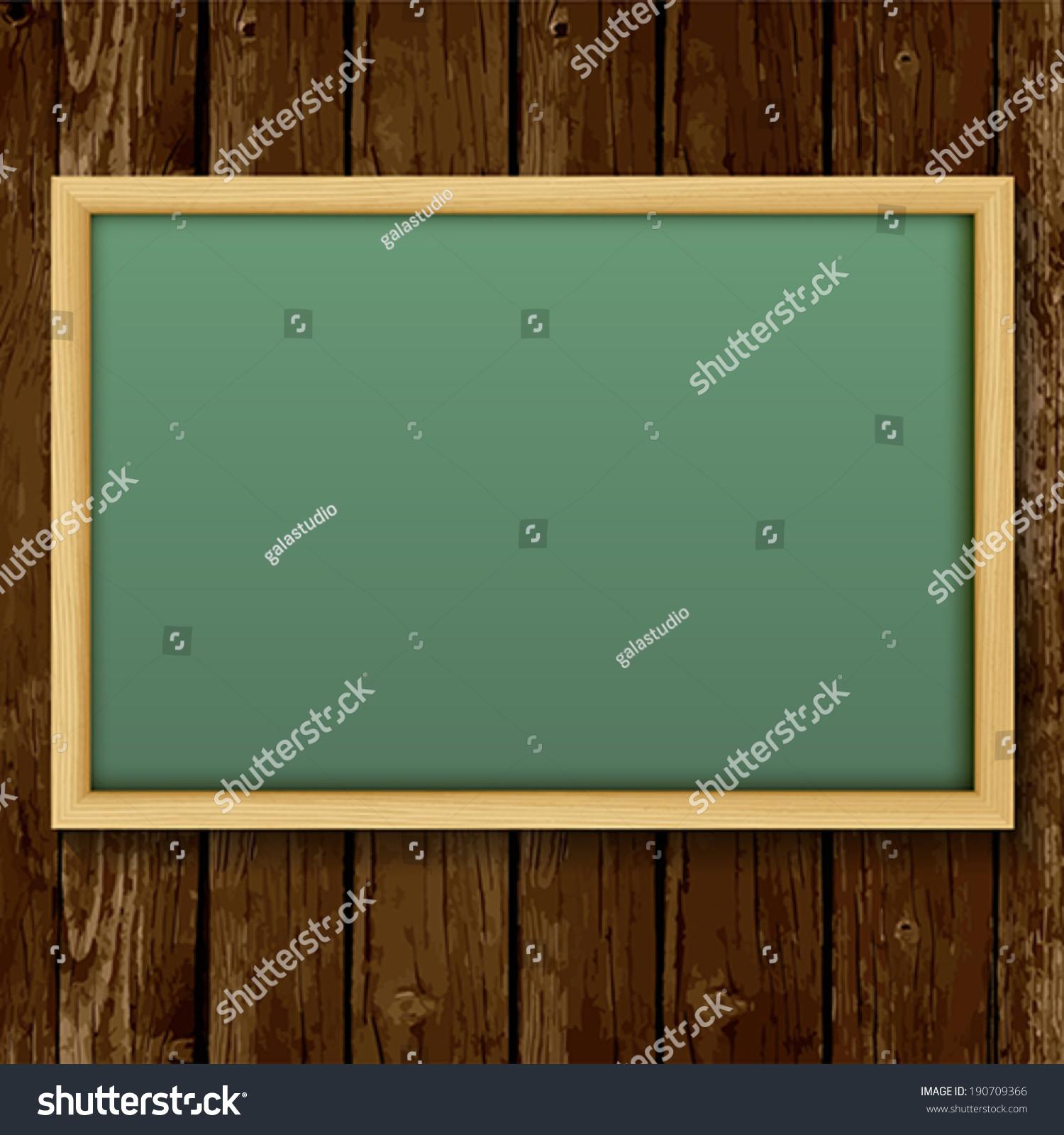 Blank Chalk Green Board Wood Frame Stock Vector HD (Royalty Free ...