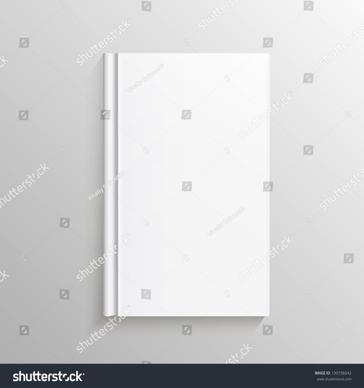 Book Cover Design Blank : Blank book cover vector illustration gradient stock