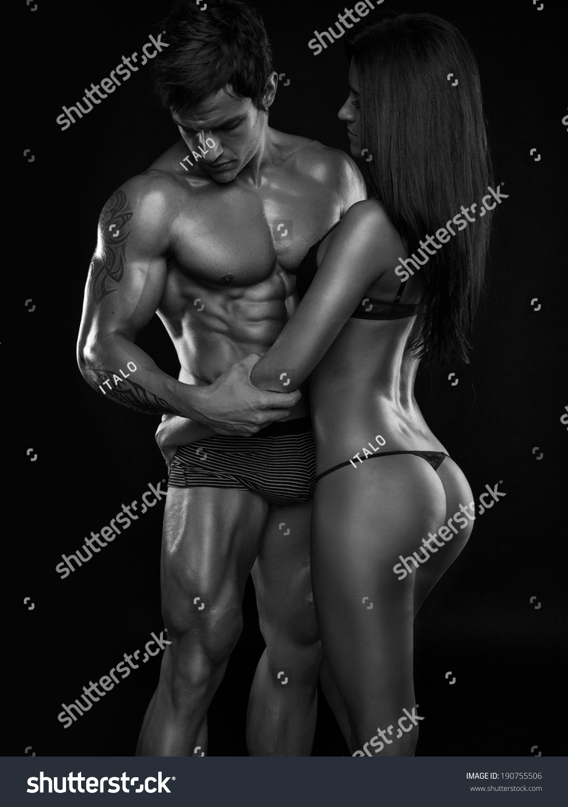 Muscular Naked Men Having Sex With Woman 36