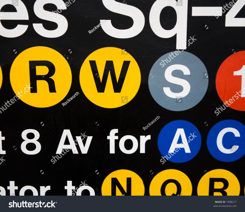 Subway sign new york city times stock photo 1908217 shutterstock subway sign in new york city times square biocorpaavc Gallery