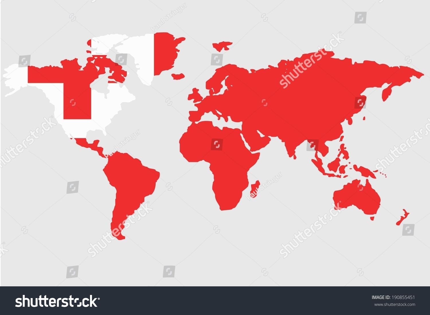 Tonga World Map.An Illustrated Map Of The World With The Flag Of Tonga Ez Canvas