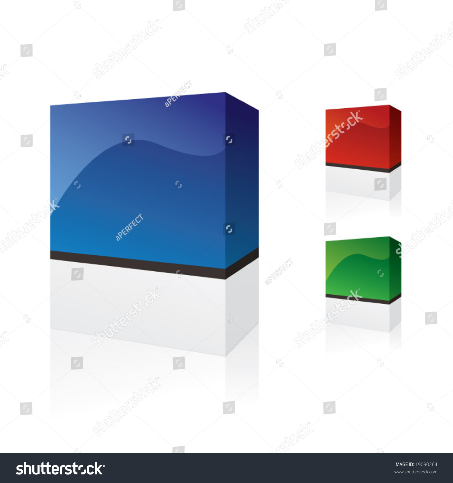 Software boxes stock vector illustration 19090264 Vector image software