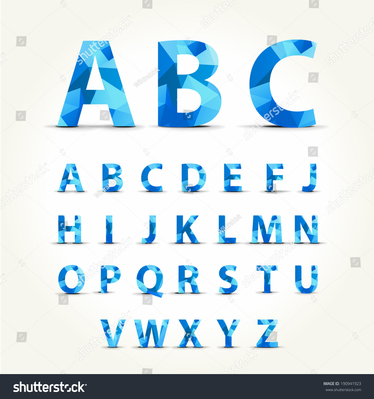 Geometry Symbol Font Set Isolated On Stock Vector 190941923 ...
