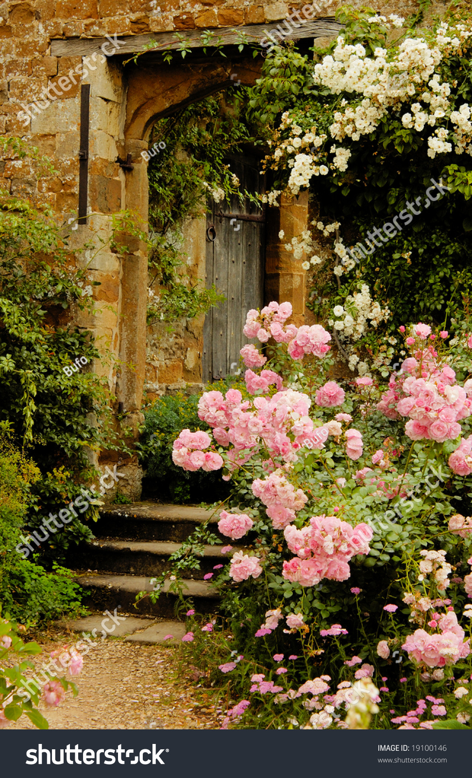 Stairs Garden Into Medieval Castle England Stock Photo (Edit Now ...