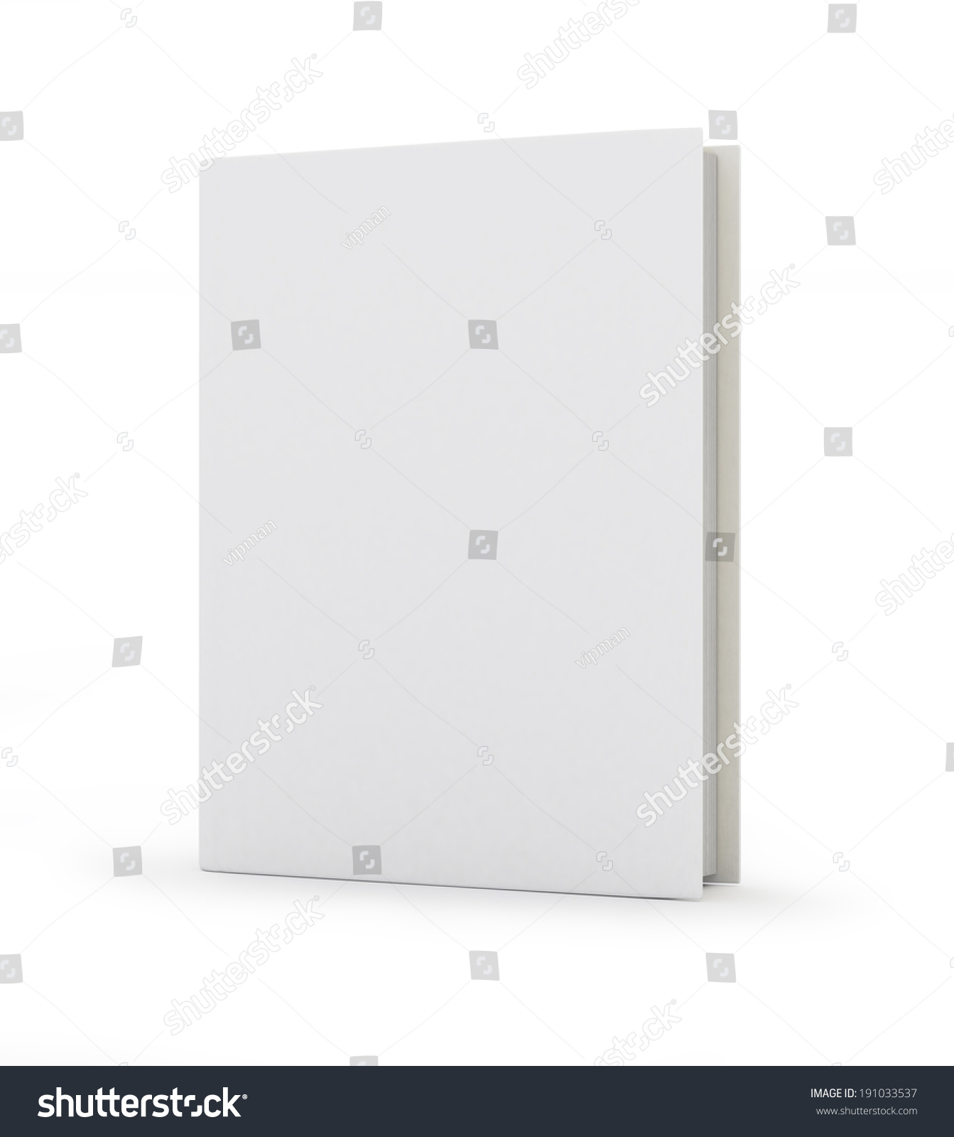 Blank Book Cover Background ~ Blank book cover over white background stock illustration