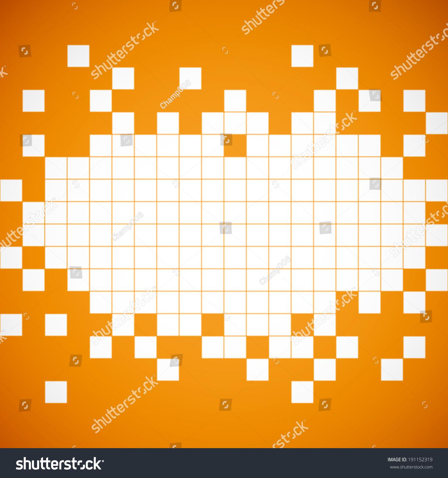 Orange And White Pattern Background