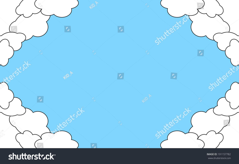 Cloud Frame Stock Vector 191157782 - Shutterstock