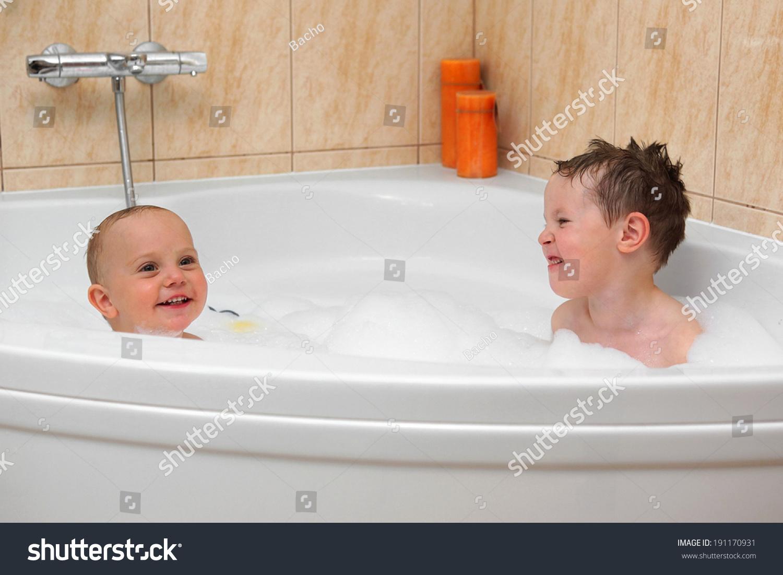 Two Little Boys Having Fun Water Stock Photo (Edit Now) 191170931 ...