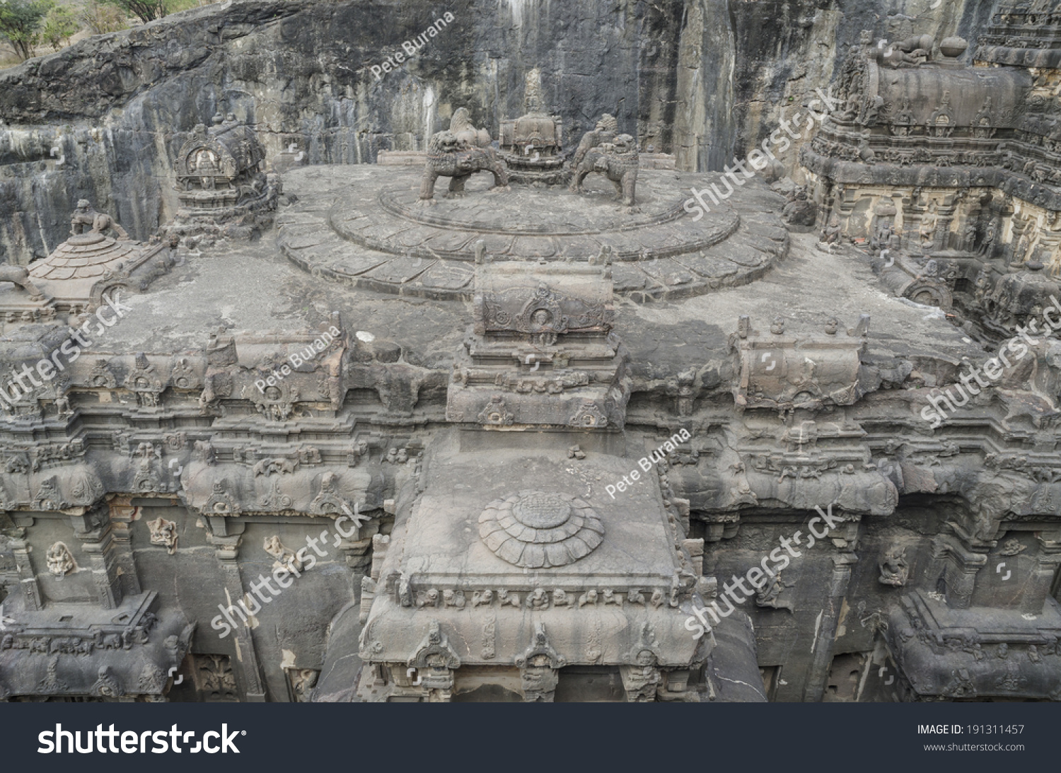 Sculptures Carved Out Solid Rock On Stock Photo 191311457
