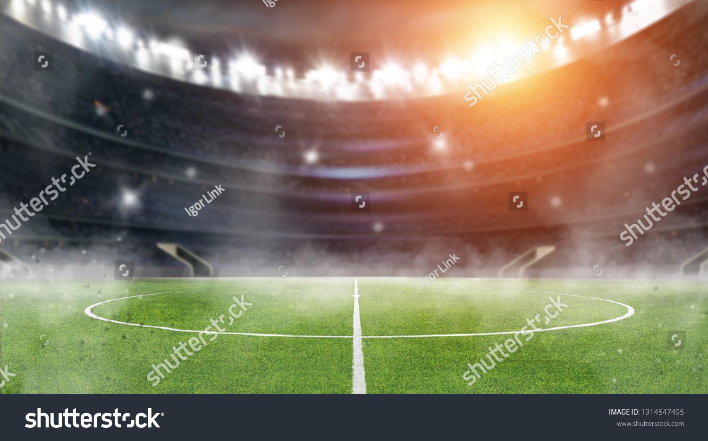 soccer ball in the stadium #1914547495