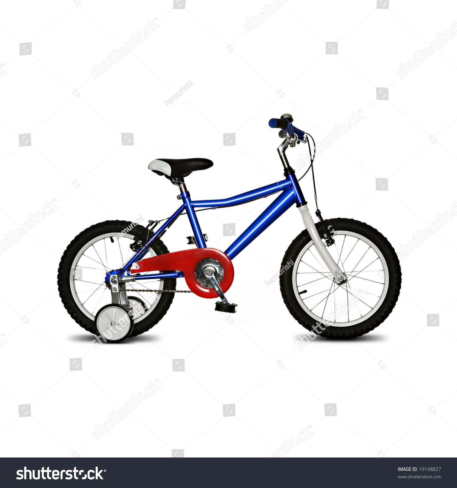Kids Bike Isolated On White Background Stock Photo