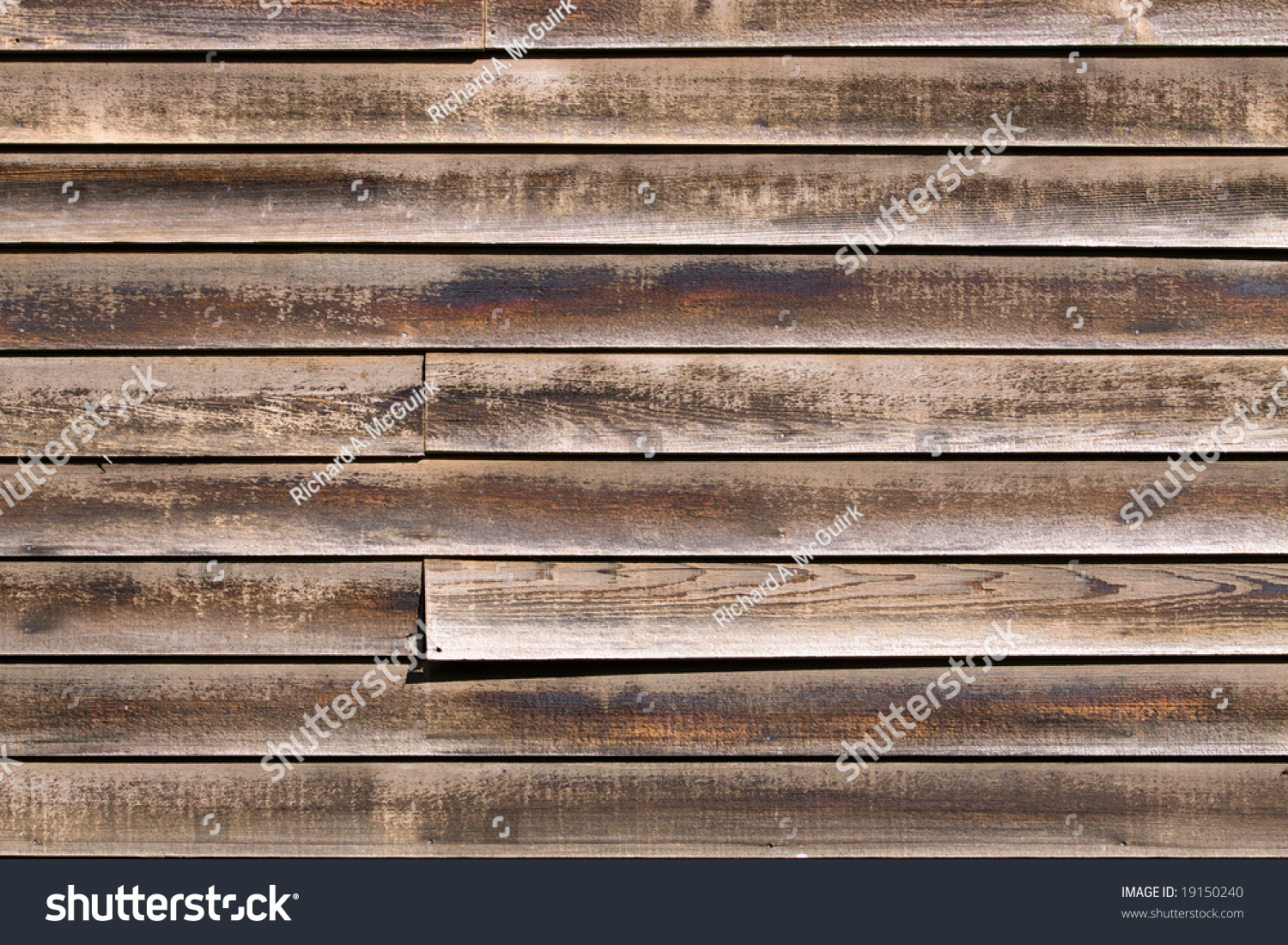 Color dslr image old weathered red stock photo 19150240 for Horizontal cedar siding