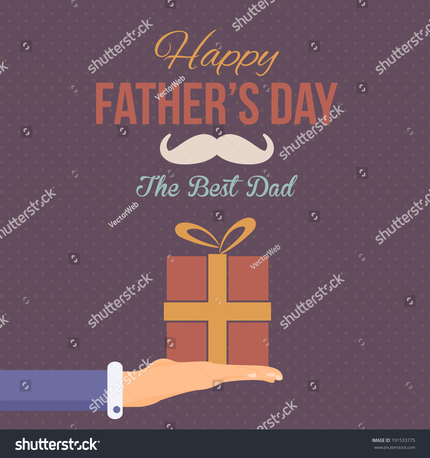 Happy Father'S Day Vector Design. Announcement And