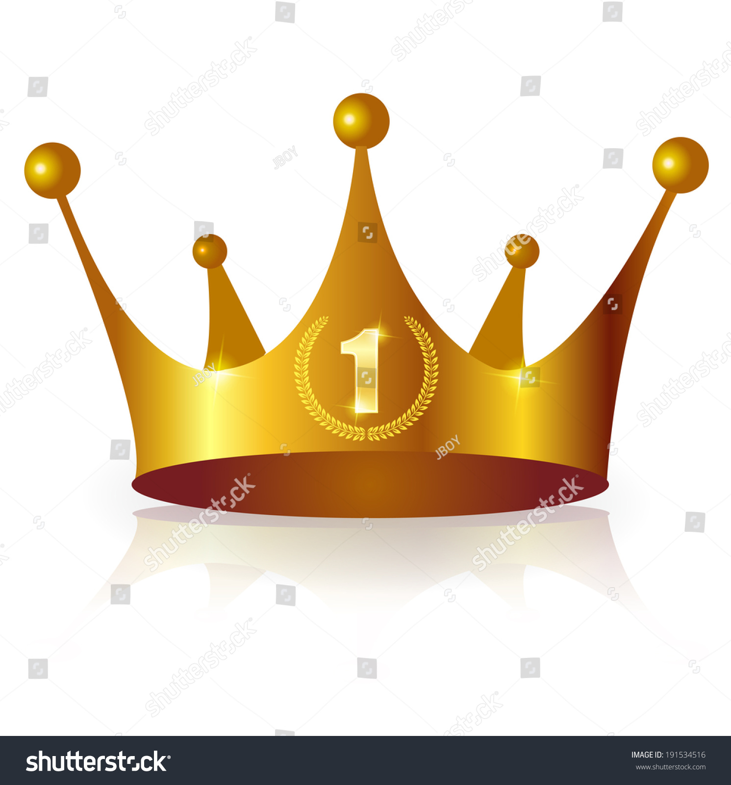 Gold Crown Isolated On White Background Ez Canvas