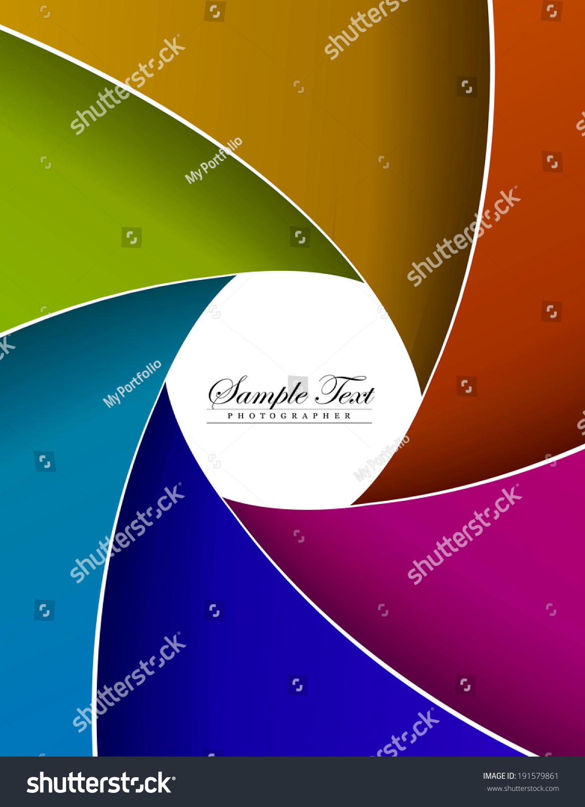 abstract color aperture blades background and space for sample text. vector
