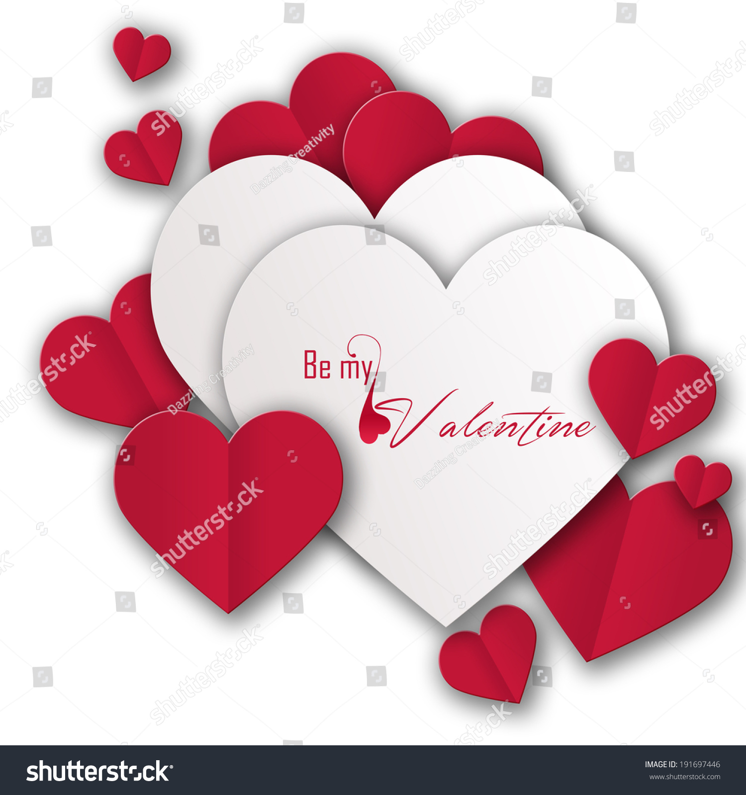 beautiful love hearts valentines day background stock photo (edit