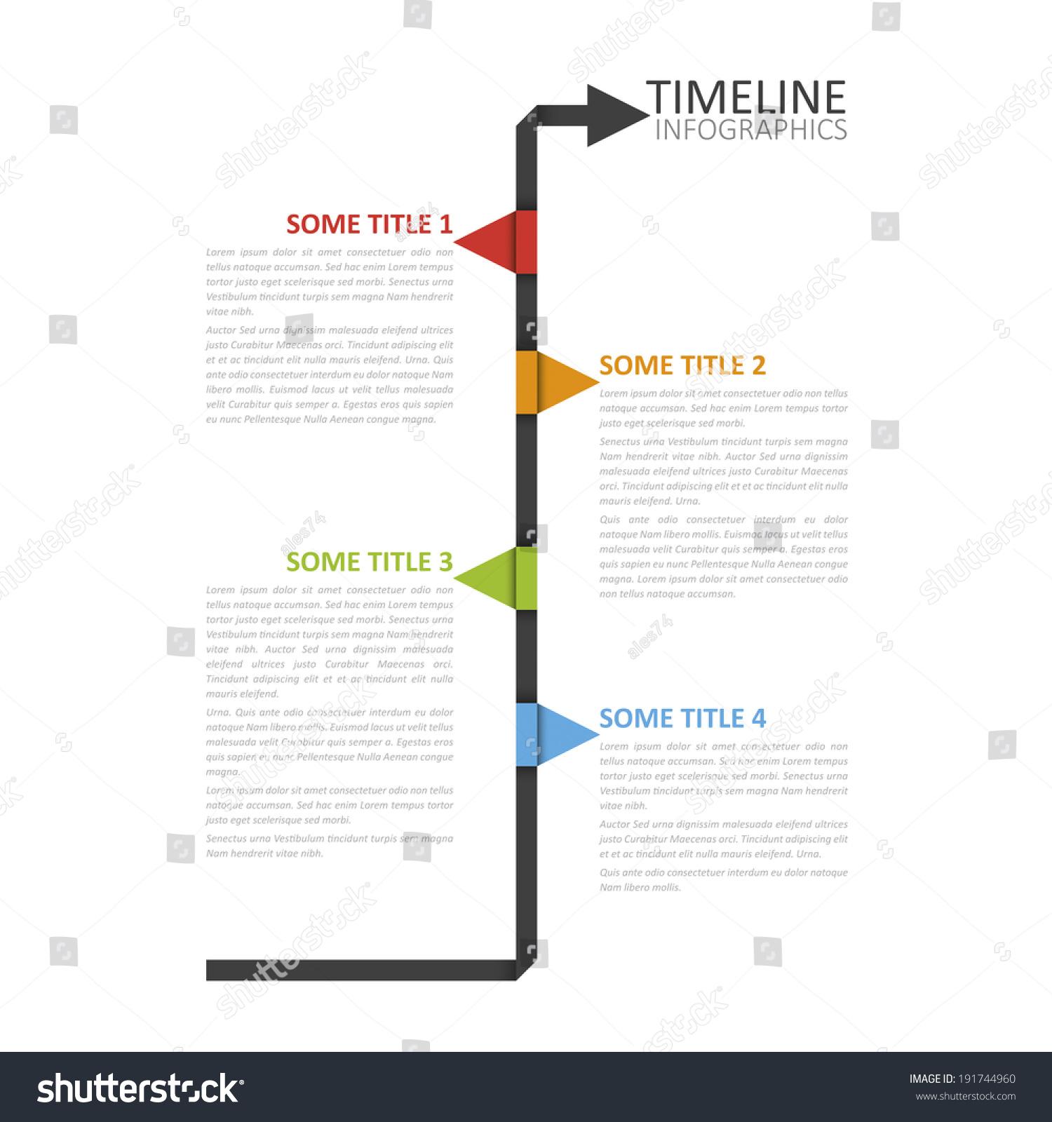 Modern Timeline Design Template. Vector Format. - 191744960 ...