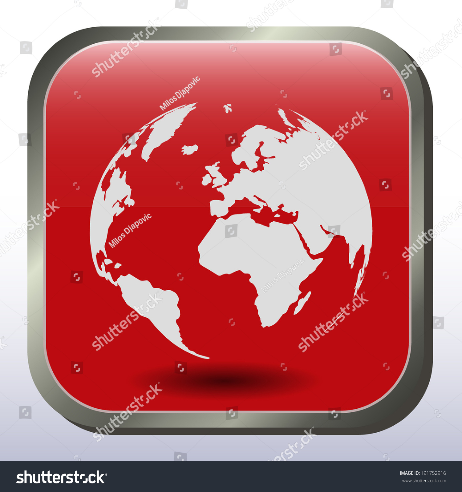 Red world map sticker info graphic stock vector 191752916 red world map sticker info graphic vector template gumiabroncs Images