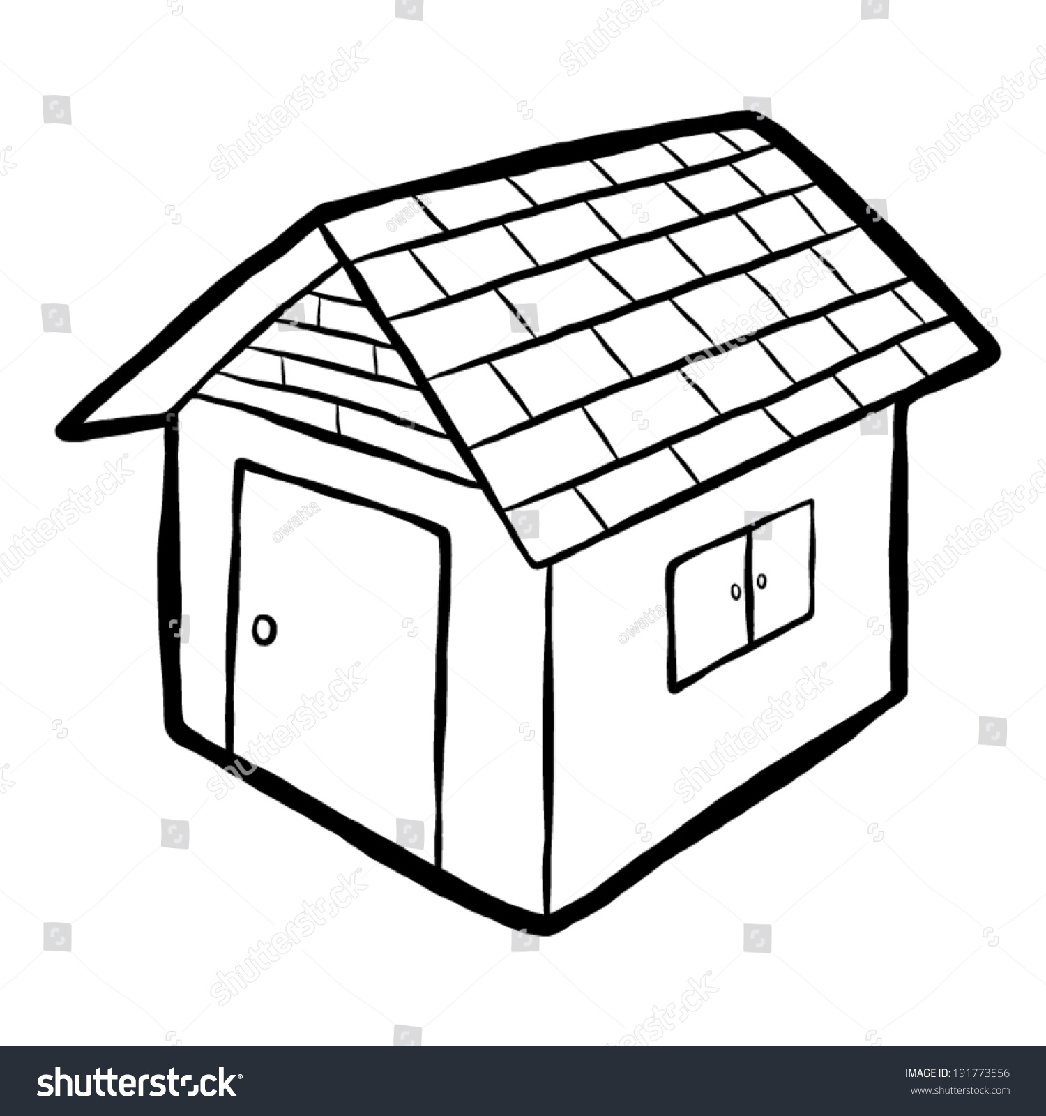 home house cartoon vector illustration black stock vector