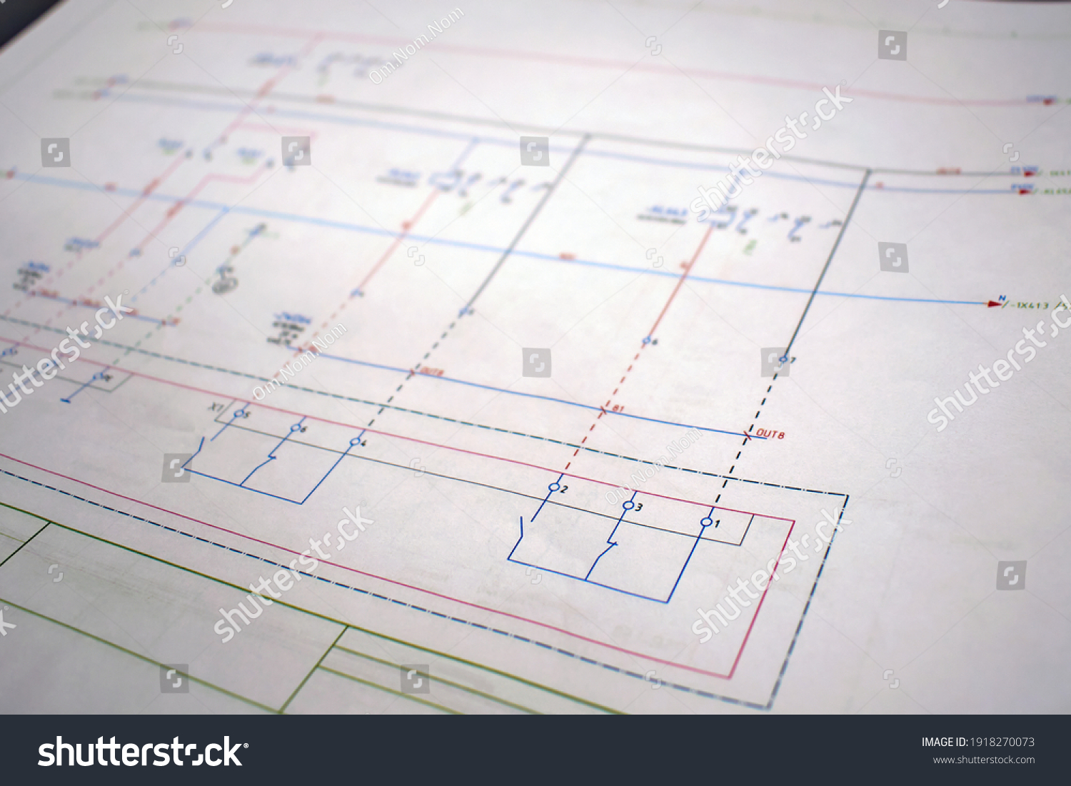 Printed electrical diagram. Electrical equipment connection diagram, technological design #1918270073