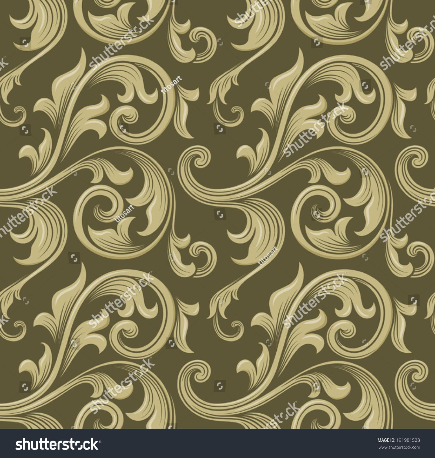 Vintage baroque scroll design element motif pattern vector for Baroque design elements