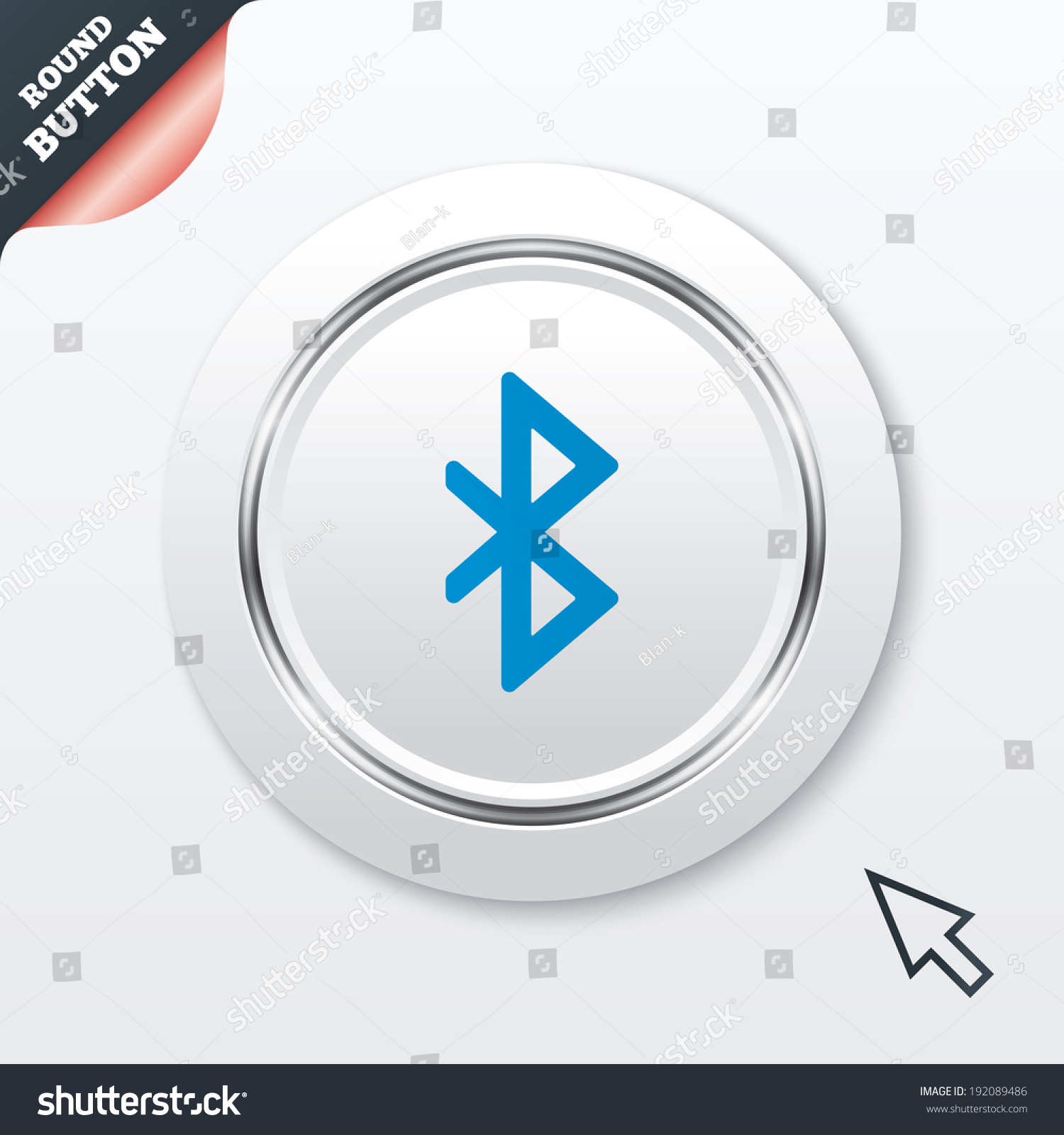 Bluetooth sign icon mobile network symbol stock vector 192089486 mobile network symbol data transfer white button with metallic line biocorpaavc