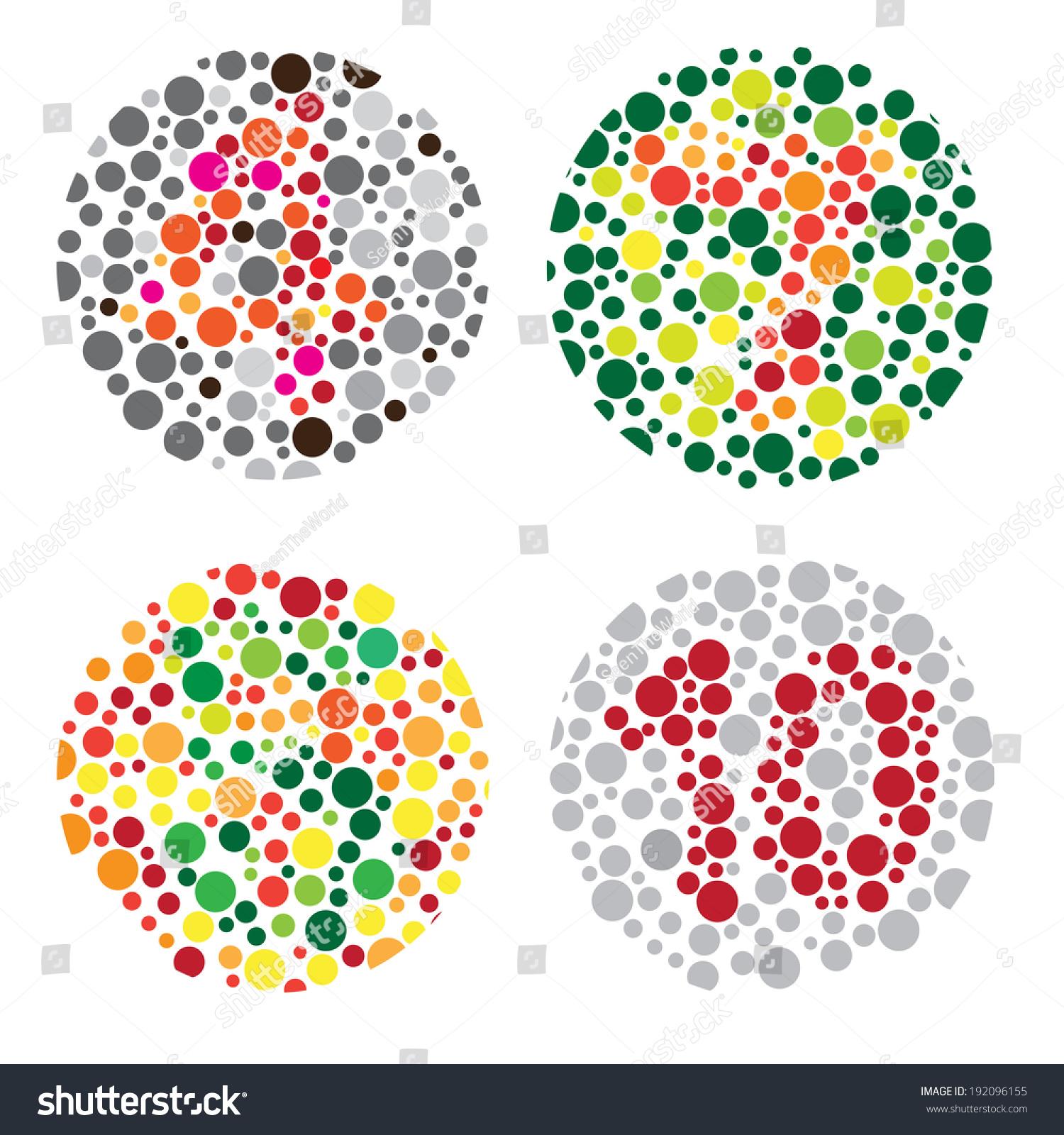 Color Blind Test Daltonismcolor Blindness Disease Stock Vector