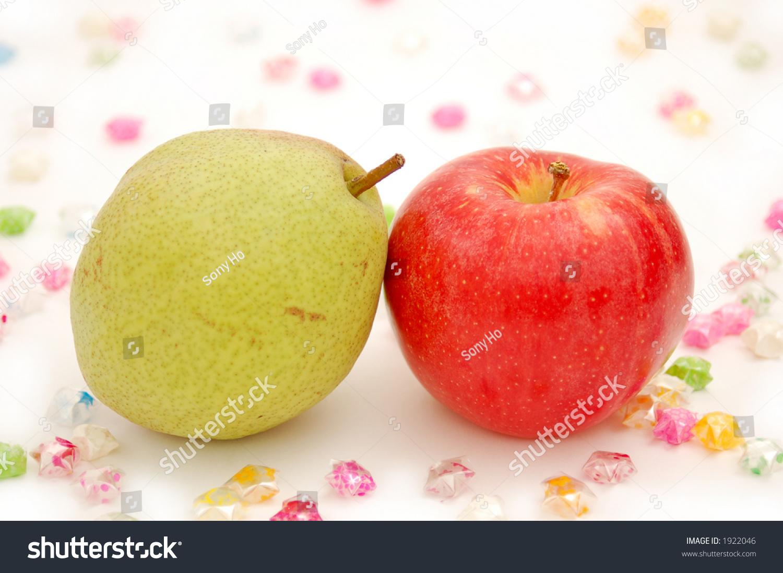 Pear apple symbol couple love stock photo 1922046 shutterstock pear and apple symbol of couple in love biocorpaavc