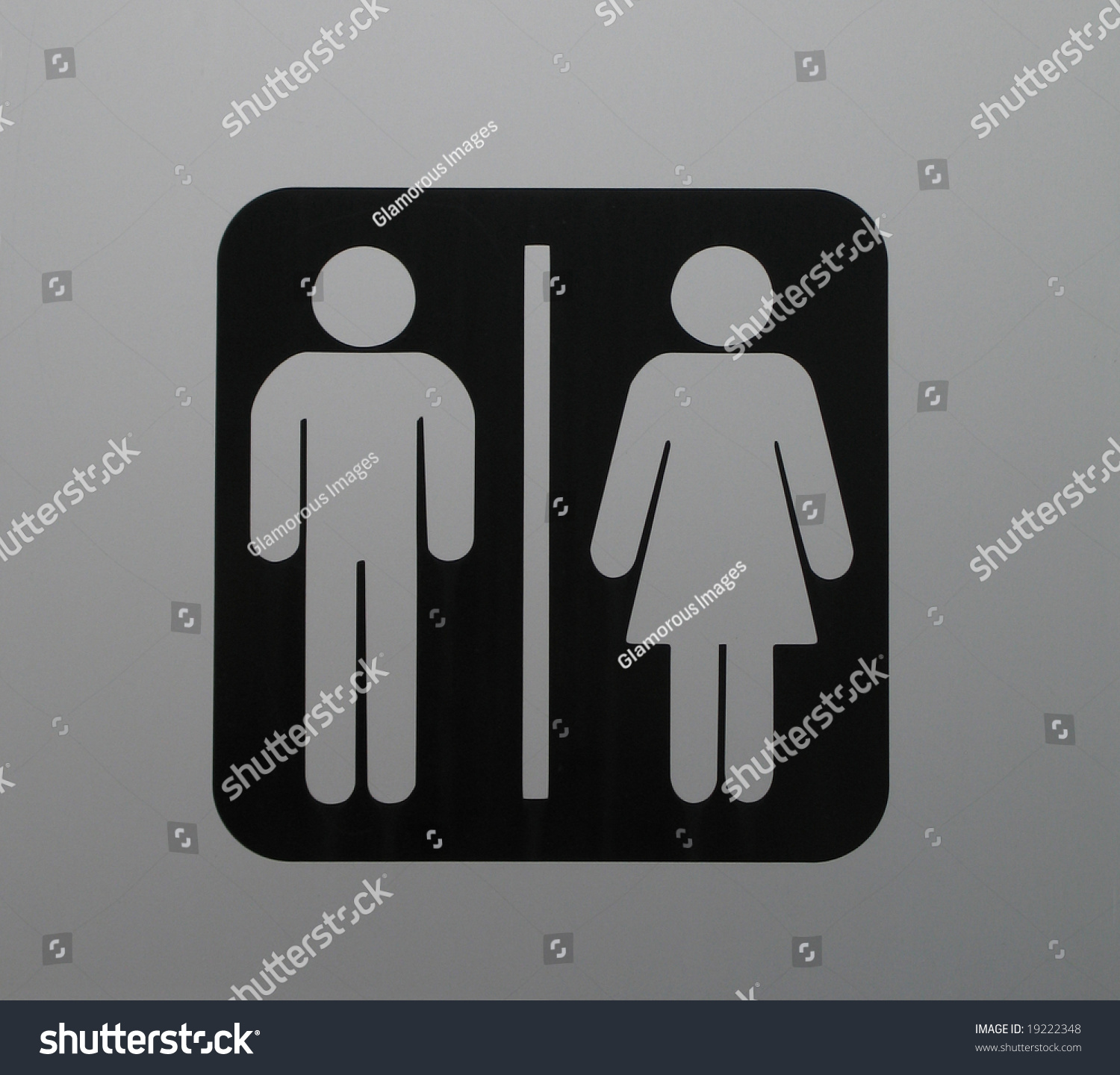 Washroom sign stock photo 19222348 shutterstock for Washroom photo