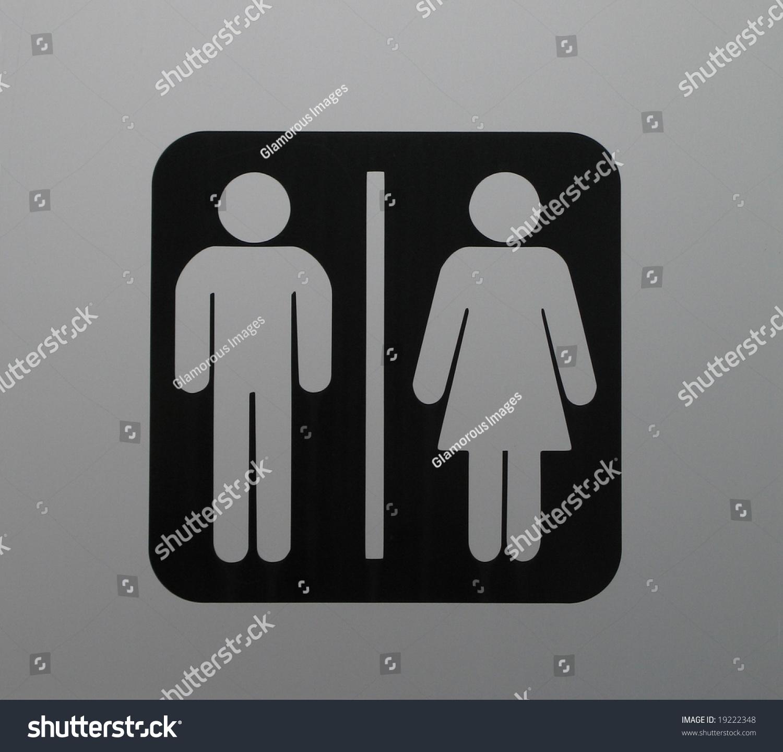 Washroom sign stock photo 19222348 shutterstock for Washroom photo