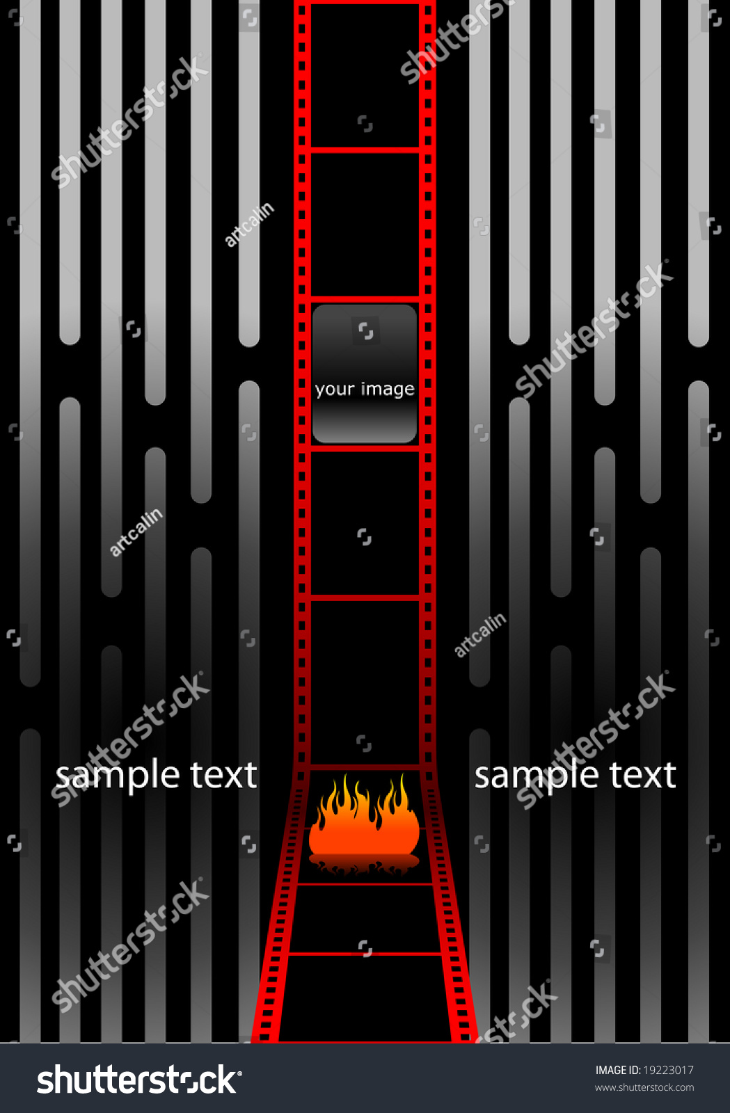 modern cinema wallpaper red film strip stock photo (photo, vector