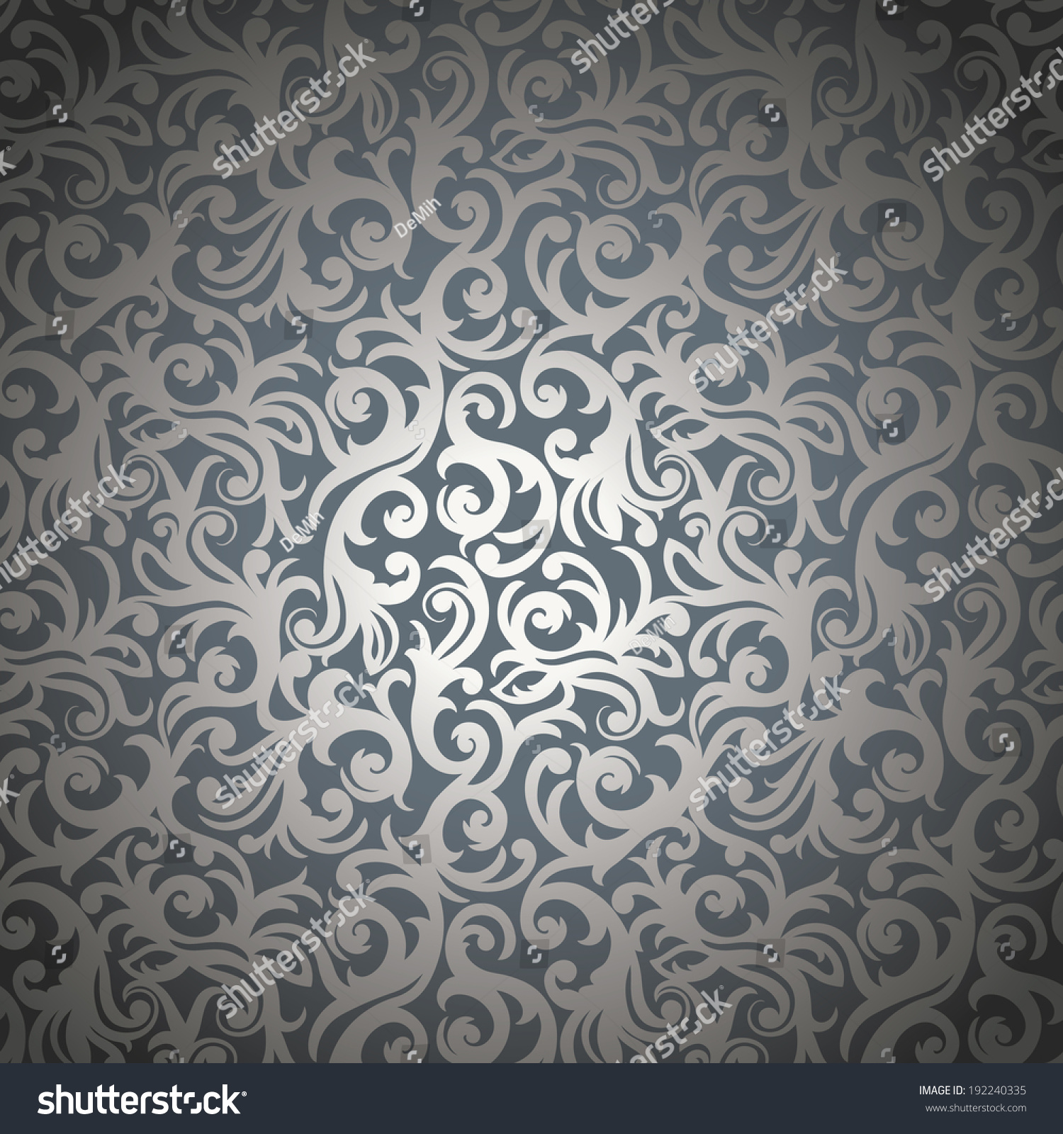 Elegant Stylish Abstract Floral Wallpaper Stock Vector Royalty