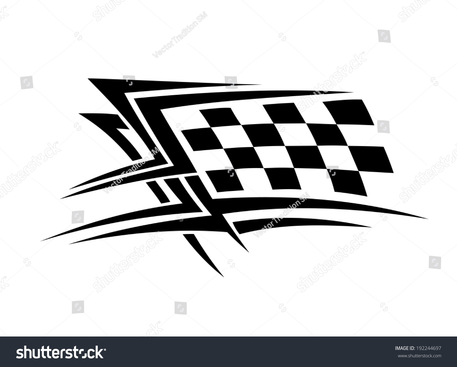 Racing sports tattoo symbol. Vector version also available in gallery #192244697
