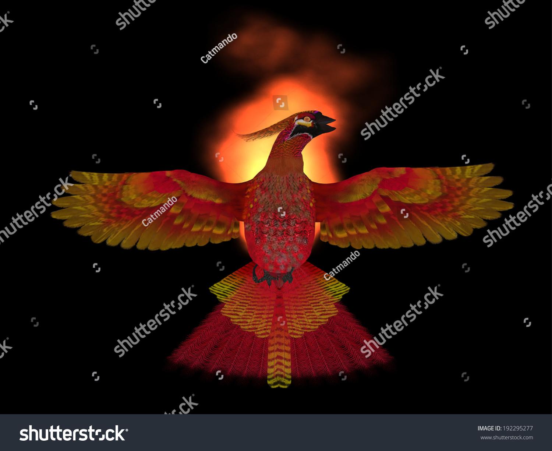 Phoenix Bird Fire Phoenix Bird Symbol Stock Illustration 192295277