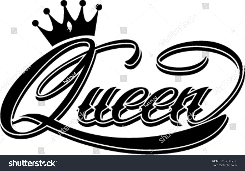 Queen Hand Lettering Stock Vector Illustration 192300200