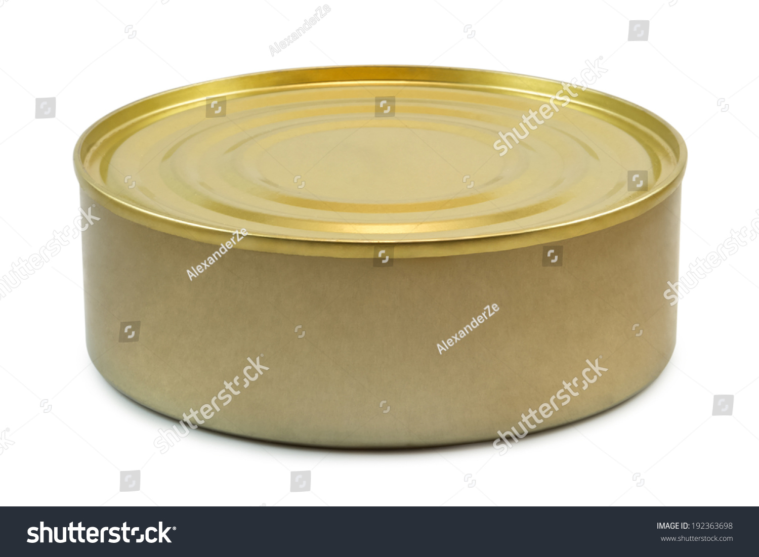 Small tin can isolated on white background