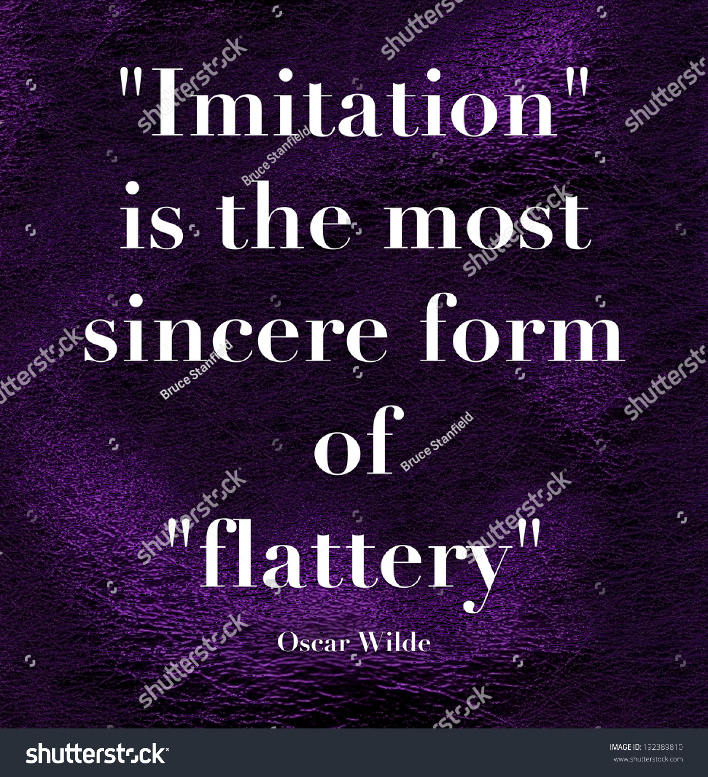 Imitation Most Sincere Form Flattery Quote Stock Illustration ...